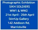 Duty Honour Country, Sikh Soldiers in WWI & WWII